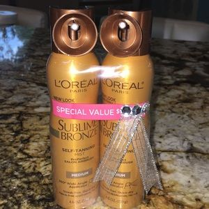 L'Oréal Sublime Bronze self tanning spray- NEW